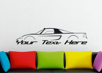 Large Custom car silhouette wall sticker - for Mercedes C112 | classic supercar